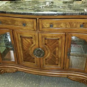 AICO by Michael Amini Excelsior sideboard with marble top for Sale in Fort Lauderdale, FL