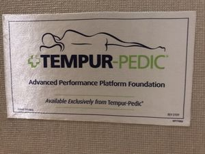 King tempurpedic platform foundation and metal frame for Sale in San Jose, CA
