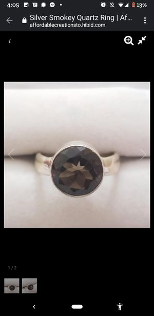 Smoky Quartz 3ct Sterling Silver Ring for Sale in Austin, TX