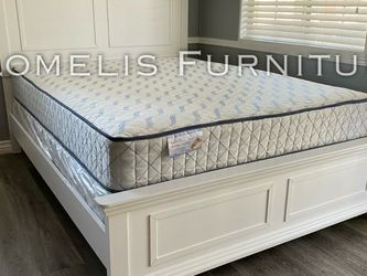 Queen White Alani Bed W. Orthopedic Mattress Included for Sale in Los Angeles,  CA