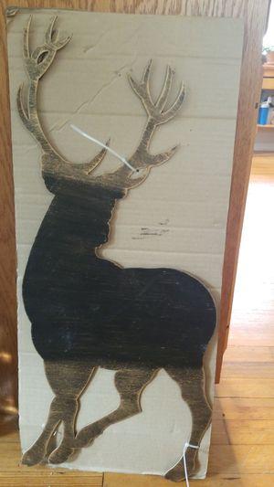 Metal artwork stag deer for Sale in Bristol, CT