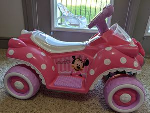Kid Trax Disney Minnie mouse 6V quad ride on for Sale in Morrisville, NC