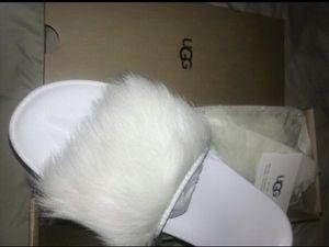 New UGG Fur Slides • Genuine Shearling Slippers • Designer Sandals Size 10 /11 for Sale in Washington, DC