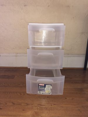 Small Plastic 3 drawer storage for Sale in Washington, DC