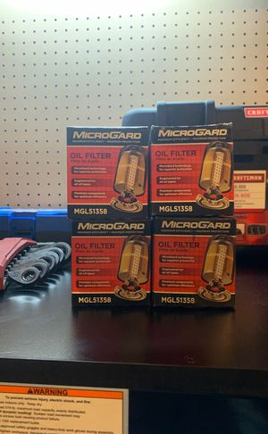 4 MicroGard Oil Filter Part # MGL51358 350Z G35 for Sale in Tacoma, WA