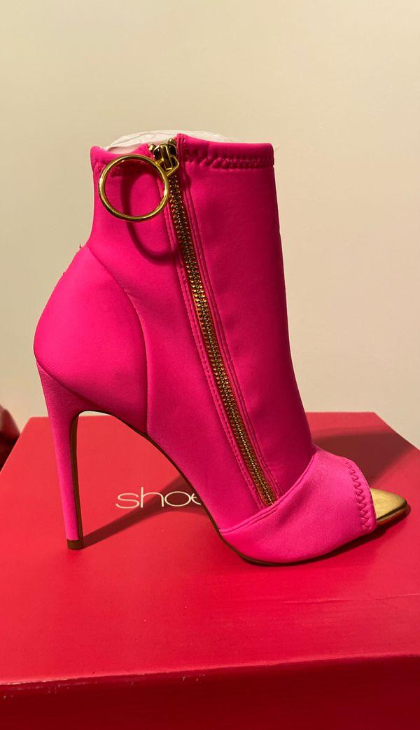 Hot pink bootie