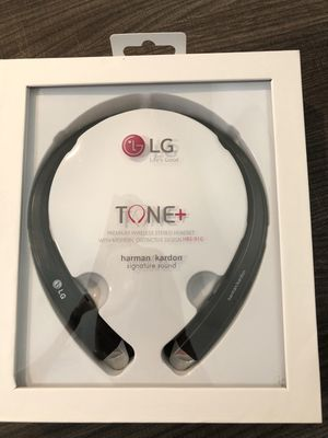 Brand new bluetooth retractable earphones headset headphones built in microphone LG hbs910 hd sound and stereo for Sale in Davie, FL