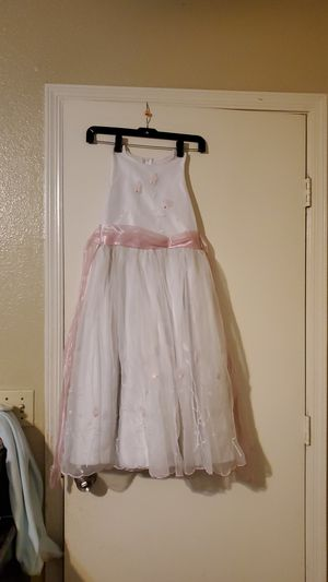 White with pink flowers dress for girls for Sale in Phoenix, AZ
