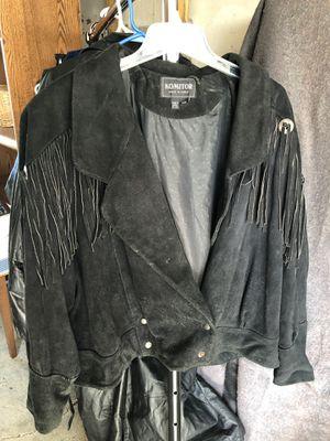 Black Swede Fringed Jacket. for Sale in Columbus, OH