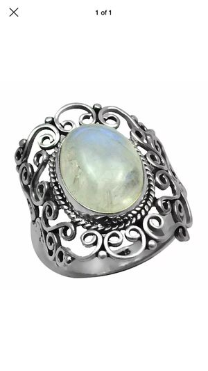 Moonstone ring in antiquated style setting. Size 9 for Sale in Swannanoa, NC