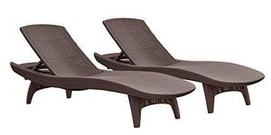 Brand: KETER Manufacture Description: KETER PACIFIC ALL-WEATHER ADJUSTABLE OUTDOOR PATIO CHAISE LOUNGE FURNITURE, BROWN ~~~ Retail: $499.00 Mo for Sale in Columbus, OH