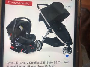 NEW Britax B-Lively stroller B-Safe 35 car seat travel system Raven B-Agile for Sale in Hacienda Heights, CA