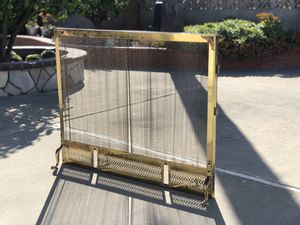 Vintage Mesh Fireplace Screen for Sale in San Leandro, CA
