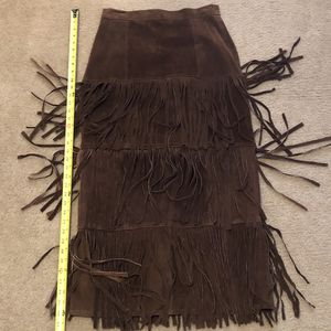 IDEA NUOVA Cowgirl Suede Fringed Long Skirt for Sale in Humble, TX
