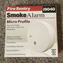 New In Box Kidde Fire Sentry Smoke Alarm White Micro Profile Model: i9040 for Sale in Chapel Hill,  NC