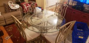 Glass top table with 4 chairs for Sale in Toms River, NJ