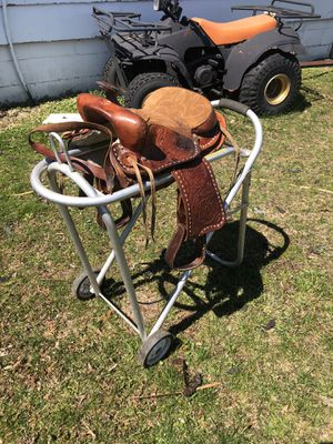 Youth Leather Saddle for Sale in Caro, MI