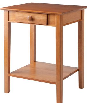 New!! Wood printer stand, night stand, side table, console, honey for Sale in Phoenix, AZ