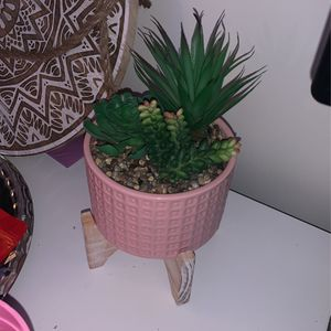 Faux Succlent plant with pot for Sale in Bakersfield, CA