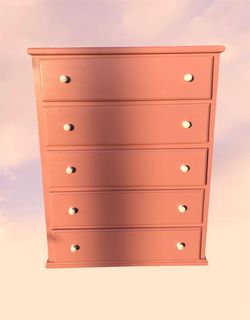 Pink 5 drawer Pinewood Dresser for Sale in Los Angeles,  CA