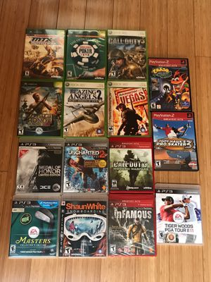 Xbox360 ps3 ps2 games for Sale in Everett, WA