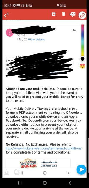 Cardi B ticket for mid state fair for Sale in Santa Maria, CA