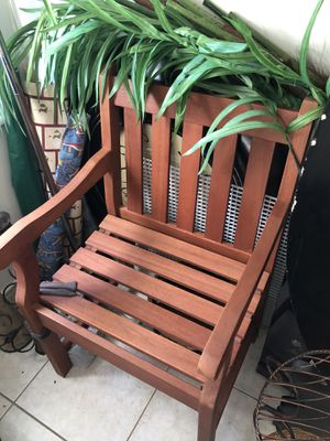 Wooden armchair for Sale in Oakland Park, FL