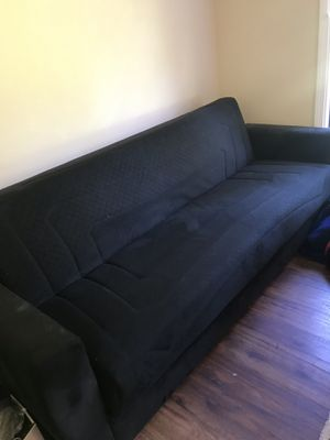 Bifold Black Futon in Great Shape for Sale in Snohomish, WA