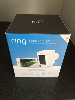 Ring Spotlight Cam Wired White for Sale in Alameda, CA