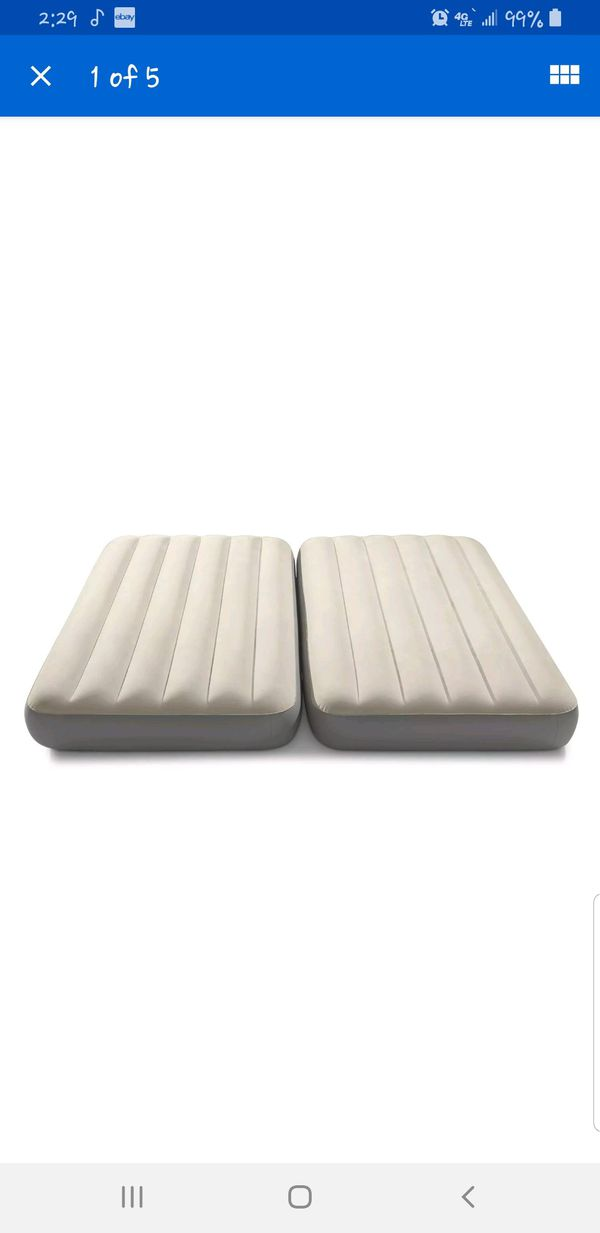 2-in-1 air twin air mattress set with electric pump