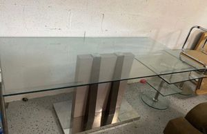Dining table Modern tempered glass solid el dorado for Sale in Miami, FL