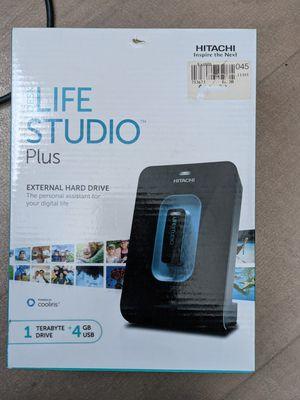 Hitachi 1TB External Hard Drive+ 4GB USB Drive for Sale in Newark, CA