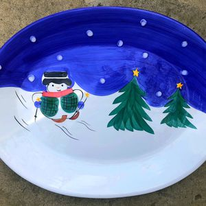 Large Christmas Ceramic Dish for Sale in Fontana, CA
