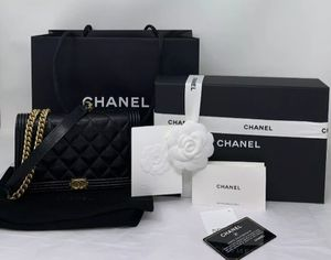 CHANEL Caviar Quilted Boy Wallet on Chain bag for Sale in Corona, CA