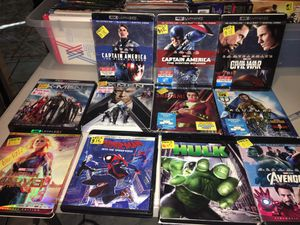 4K marvel / Dc movies (no code) for Sale in Los Angeles, CA