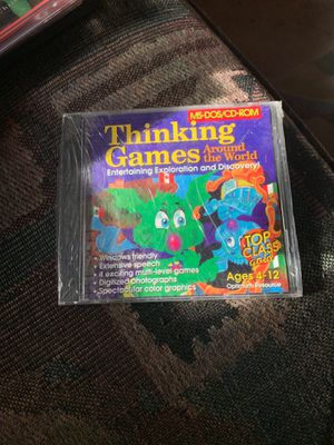 Thinking games around the world me-dos/cd-rom for Sale in New Port Richey, FL