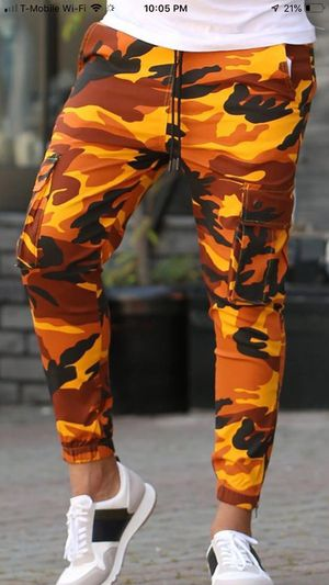 Camouflage men's designer jogger jeans super trendy comfortable and unique store pick up huge blowout sale today for Sale in Los Angeles, CA
