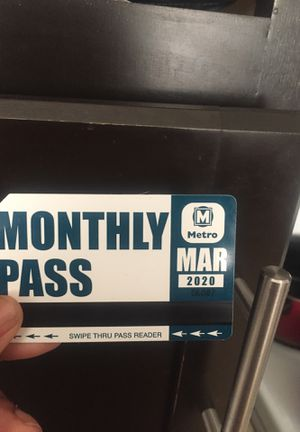 March bus pass monthly for Sale in University City, MO