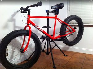 Ducati red with ducati decals Fat tire sand bicycle mountain bike front-disc brake speedometer comfort grips 8 speed excellent condition just dont us for Sale in Oakland Park, FL