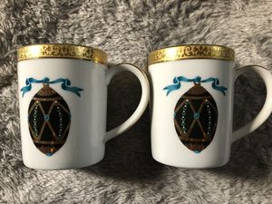 Gold Buffet Royal Gallery Faberge Coffee Cups. Black Faberge Egg set of 2 for Sale in Cynthiana, KY