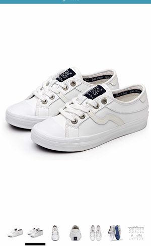 Men Adults Fashion Sneakers Low Top Lace Up Casual Shoes White for Sale in Queens, NY