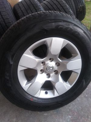 "set of 18"" 2019 Dodge Ram 275/65/18 Goodyear wrangler Fortitude HT for Sale in DeSoto, TX"