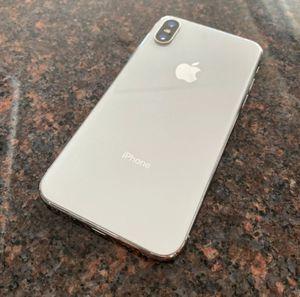 Apple iPhone X - 64GB - Silver unlocked! (Verizon) A1865 (CDMA + GSM) for Sale in Charlotte, NC