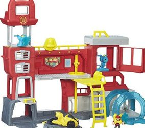Playskool Heroes Transformers Rescue Bots Griffin Rock Firehouse Headquarters for Sale in Winter Haven,  FL