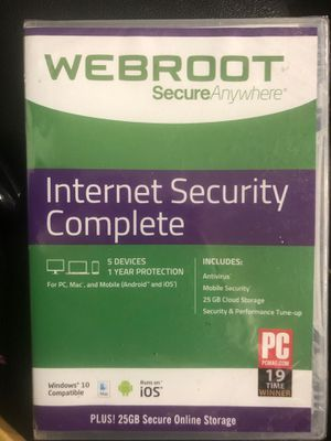 WEBROOT Internet Security Complete (NEW) for Sale in Tulsa, OK