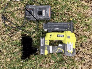 RyobI air strike nail gun (with battery and charger! for Sale in Hollywood, FL