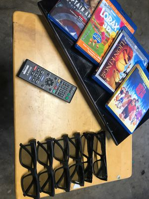 3D Player Movies And Glasses for Sale in San Diego, CA