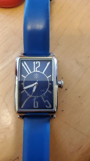 Leather blue watch for Sale in Philadelphia, PA