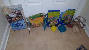 Hamster Food Hay Bedding Mulch Wheel Ball Toy Treats Bottles Food Bowls LOT for Sale in Ashburn, VA