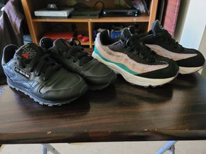 Kids Air Max 95 and Reeboks classic size 13 and 13.5 for Sale in New York, NY